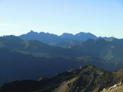 槍ヶ岳、穂高連峰、ギザギザ、すごいわ