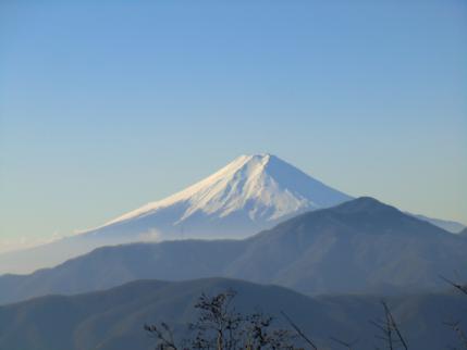 七ッ石小屋からの富士