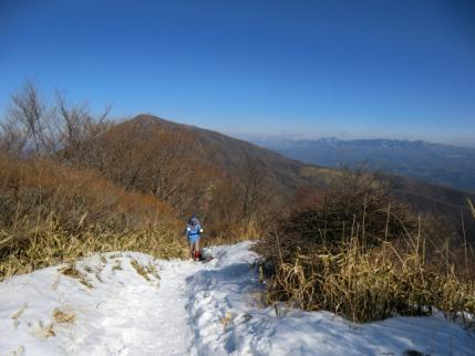 黒檜山と袈裟丸山、皇海山方向