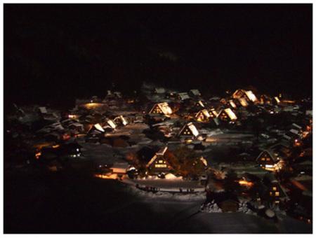 白川郷ライトアップ 次回2月9日と15日