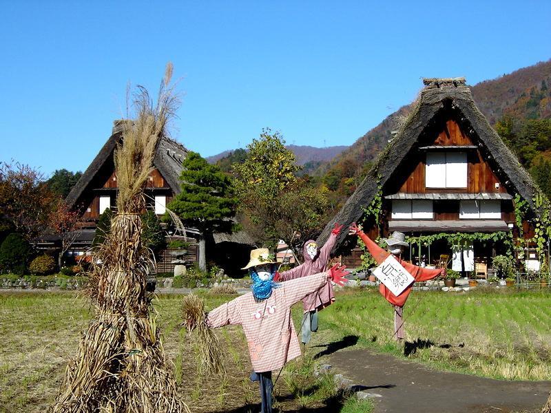 秋深まる世界遺産 白川郷の風景 ②