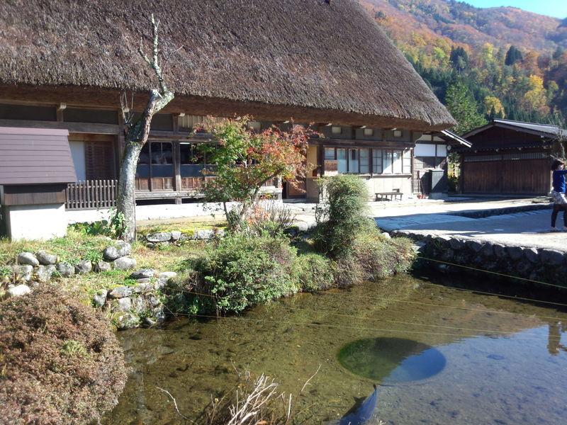 紅葉まっさかりの秋と雪景色が楽しめる季節!秋から冬にかけての白川郷は四季を感じられるよ ⑤