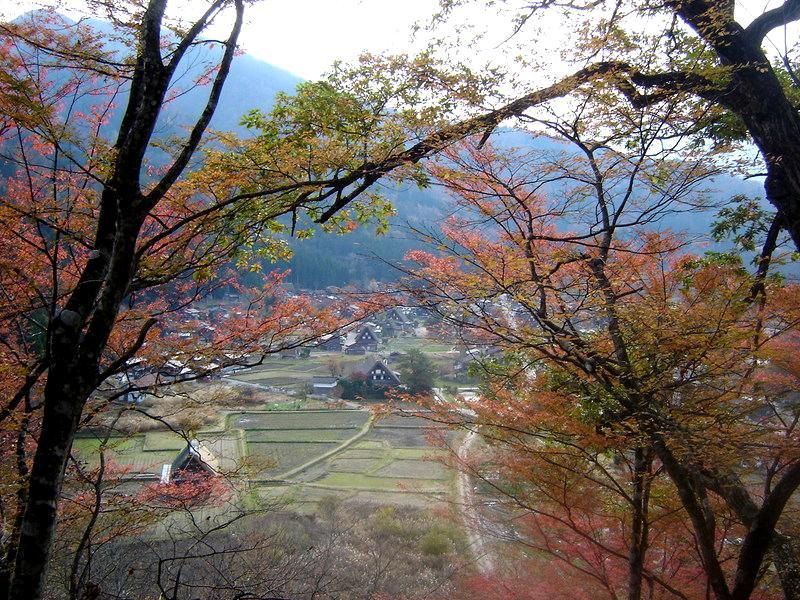 晩秋の白川郷風景 ④