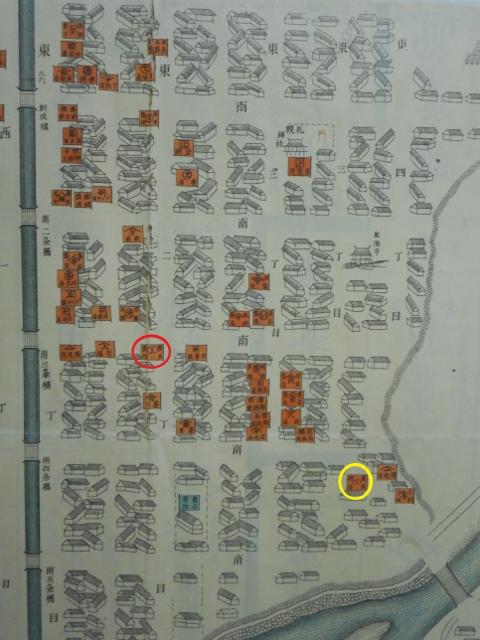 明治32年札幌市内明細案内図