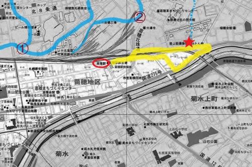 苗穂 地図②