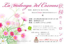秋桜のミロンガ9月30日(日)吉祥寺カリブ