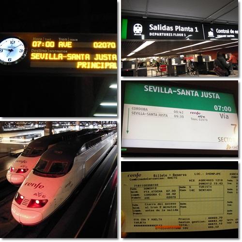 スペイン・アトーチャ駅からコルドバへ