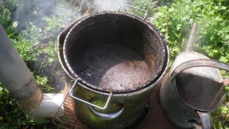 油鍋の洗浄 (1)