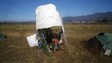 農具小屋修理 (1)