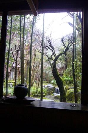 海潮荘 囲炉裏席から見た庭