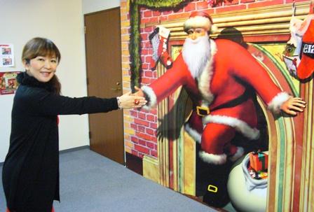 サンタさんを激励