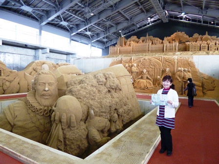 砂の美術館 内部