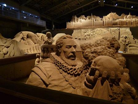 砂の美術館 ライトアップ
