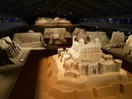 砂の美術館 俯瞰夜