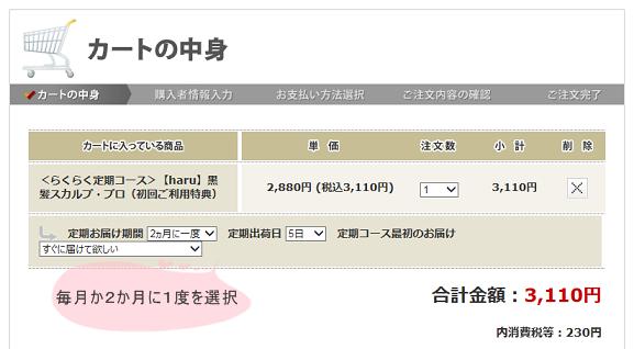 haru購入画面