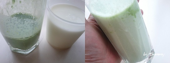 働き女子の3秒簡単スムージー 牛乳と粉末