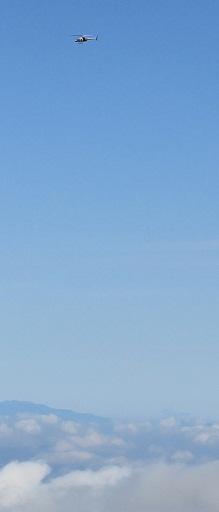 雲海とヘリ