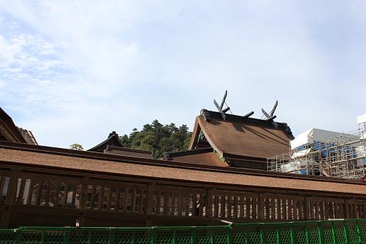 本殿の屋根のふきかえ