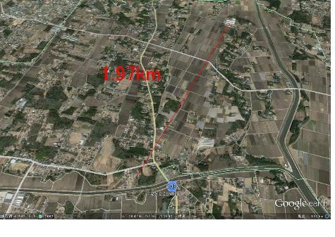 直線距離1.97km-1-2