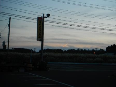 2012.10.27 クロスな飛行機雲