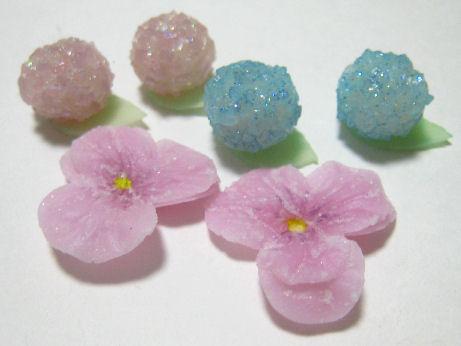 和菓子のあじさいミニ1