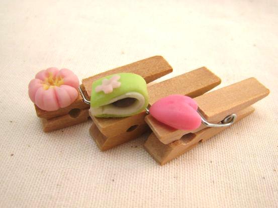 桜の和菓子のウッドピンチ2