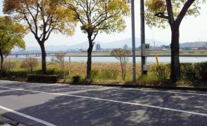 大分川河畔