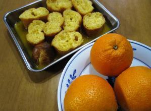 つけパンとオレンジ