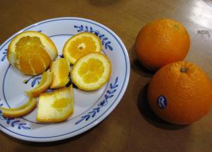 オレンジの皮むき