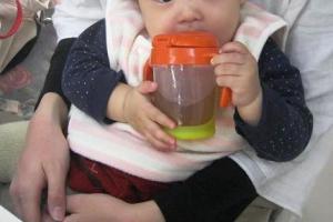 赤ちゃんとお茶