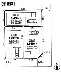 中延3丁目新築戸建配置図_R