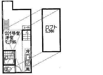インベストビギン大井町11201号間取り図_R