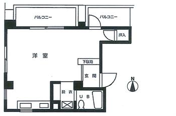 コスモハイツ大森502号間取り図_R