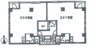 コスモハイツ大森201号間取り図1_R