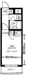 大井町スカイレジテル315号間取り図_R