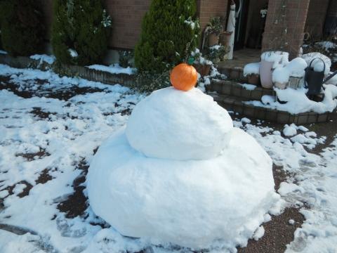 雪だるまがとけました