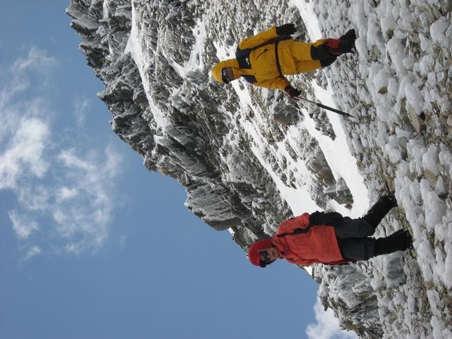頂上からの帰途ルート