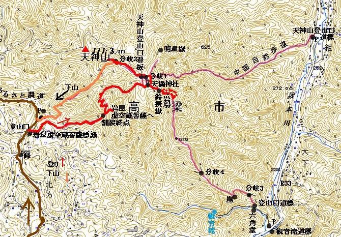 map天神山