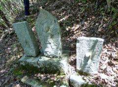 石仏が次々に並んでる登山道