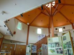 研修の場 センター内の一部分 風景にもマッチしたログハウス