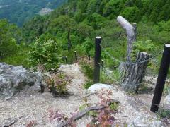 鈴振岳への岩場