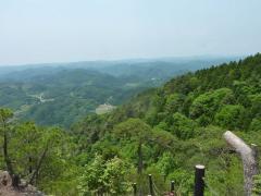 鈴振り岳 展望台 西方向 大山が見えない、