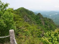 北方向 吉備高原と集落、遠くの展望がイマイチよくない。。