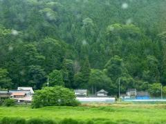 18時 雨がポッポッと勝山・真庭を後にした。