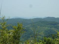 北方面 緑の山並み
