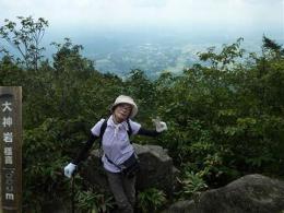 標高1000m 大神岩へ到着 あと255m