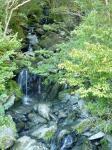 登山口側 谷間の小さな滝