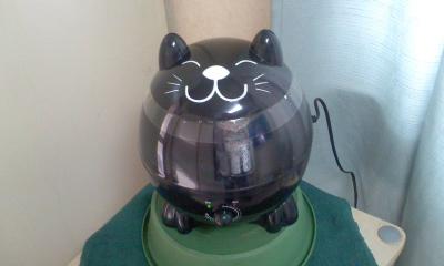黒猫の加湿器