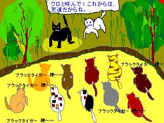 野良猫たちは、クロちゃんと共に
