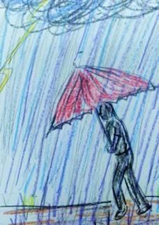 雨は、神様のおしっこ